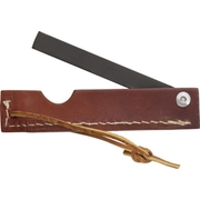 Folding Knife Sharpening Steel in Leather Case
