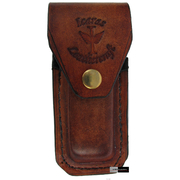 Icaras Leathercraft (Australian Made) Stockman Knife Sheath - Antique Golden Tan