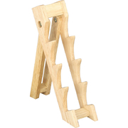 "Wooden Knife Display Stand 2.5"" Wide for 4 Medium Knives"